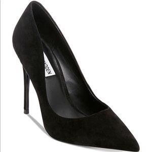 Brand New Steve Madden black suede heels